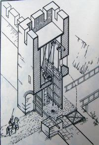 Проездная оборонительная башня города Патрей (реконструкция В. П. Толстикова)